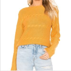 Tularosa Show Sweater in Deep yellow size L